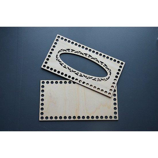 Заготовка для вязания салфетницы 23х12см