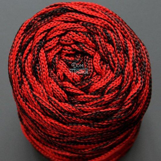 Шнур п/э 4мм меланж (Красный с черным)